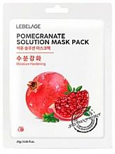 Kup Maseczka do twarzy w płachcie - Lebelage Pomegrante Solution Mask