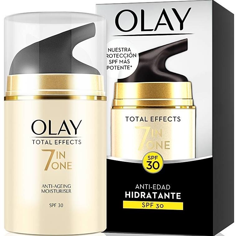 Nawilżający krem przeciwzmarszczkowy do twarzy SPF 30 - Olay Total Effects Anti-Edad Hidratante — фото N1