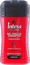 Kup Rewizalizujący szampon i żel pod prysznic z ekstraktem z żeń-szenia dla mężczyzn - Intesa Classic Black Shower Shampoo Gel Revitalizing