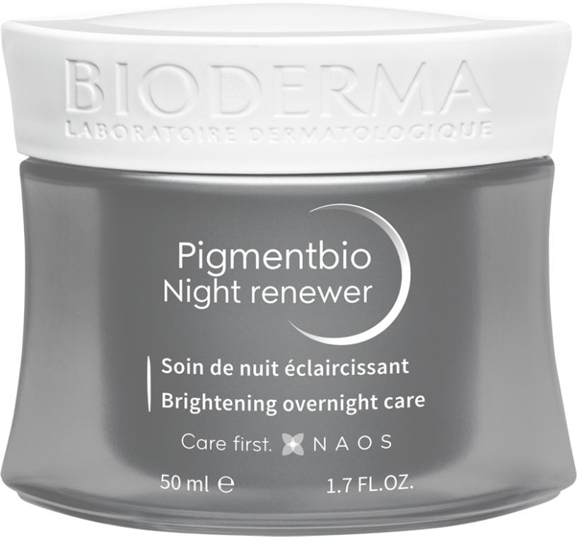 Krem do cery wrażliwej rozjaśniający przebarwienia - Bioderma Pigmentbio Night Renewer Brightening Overnight Care