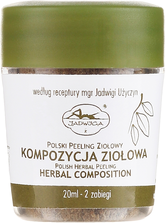 Polski peeling ziołowy - Jadwiga Herbal Composition Peeling