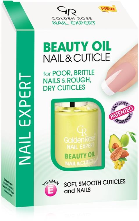 Olejek odżywczy do skórek i paznokci - Golden Rose Nail Expert Beauty Oil Nail & Cuticle — фото N1