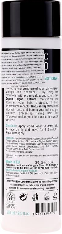 Wzmacniająca odżywka do włosów Błękitna laguna - Organic Shop Organic Algae and Clay Mineral Conditioner — фото N2