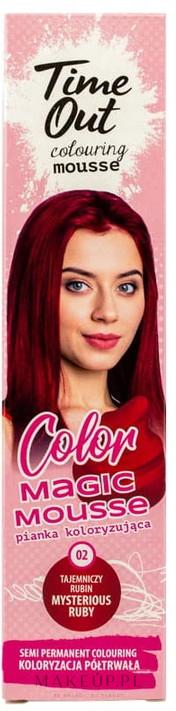 PRZECENA! Pianka koloryzująca do włosów - Time Out Color Magic Mousse * — фото 02 - Mysterious Ruby