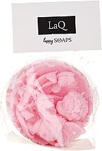 Naturalne mydło ręcznie robione o zapachu wiśniowym Anioł z tulipanami w medalionie - LaQ Happy Soaps — фото N2