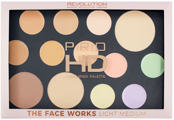 Paleta do konturowania twarzy - Makeup Revolution Pro HD The Works Palette