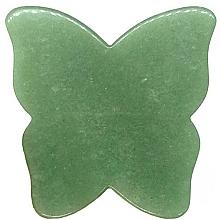 Kup Płytka Motylek do masażu twarzy Gua Sha z awenturynu - Crystallove Butterfly Aventurine Gua Sha