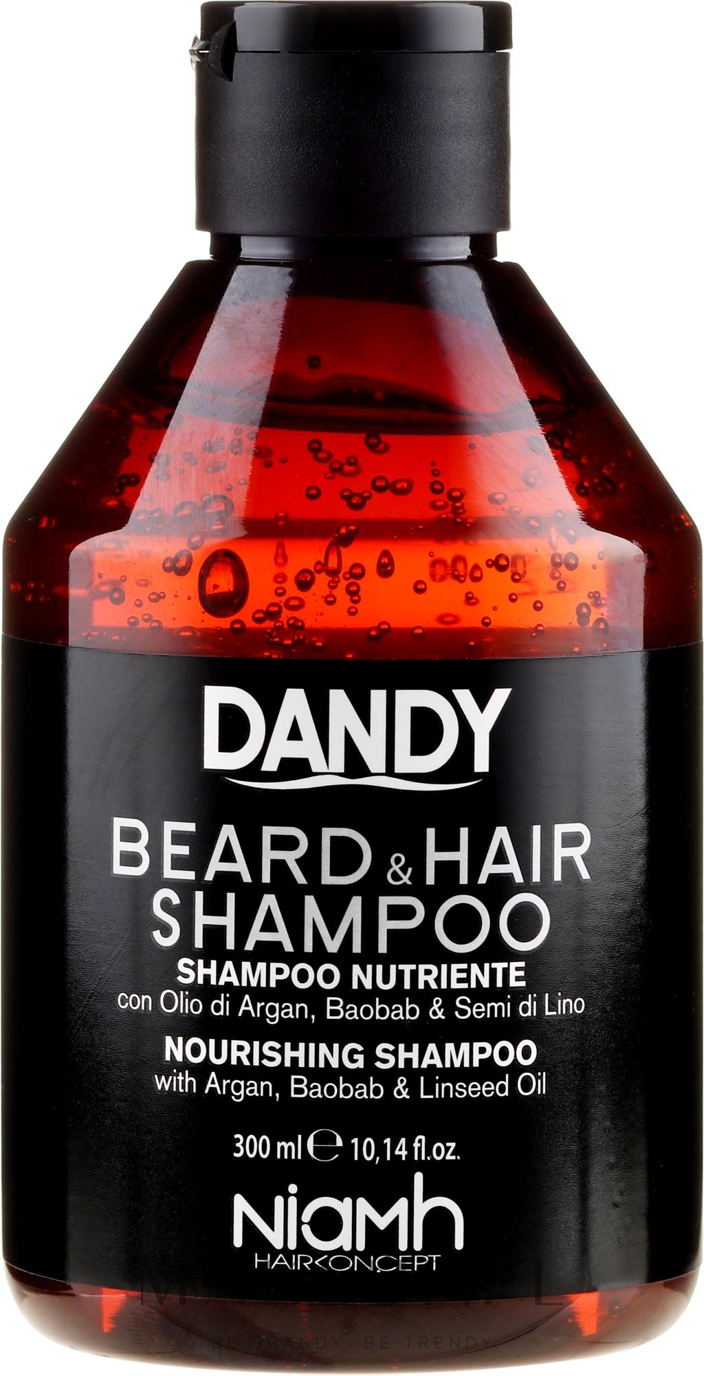 Odżywczy szampon do włosów i brody dla mężczyzn - Niamh Hairconcept Dandy Beard & Hair Nourishing Shampoo — фото 300 ml