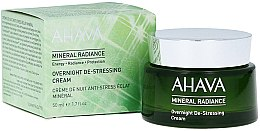 Kup Mineralny krem antystresowy do twarzy na noc - Ahava Mineral Radiance Overnight De-Stressing Cream