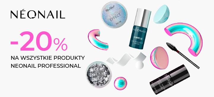 Zniżka 20% na wszystkie produkty NeoNail Professional. Сeny uwzględniają zniżkę.