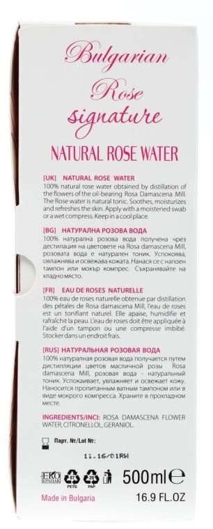 Naturalna woda różana - Bulgarian Rose Signature Rose Water — фото N4