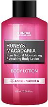 Kup Nawilżająco-odświeżający balsam do ciała Ambra i wanilia - Kundal Honey & Macadamia Body Lotion Amber Vanilla