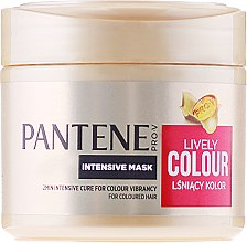 Kup Intensywna maska do włosów farbowanych Lśniący kolor - Pantene Pro-V Lively Colour