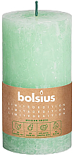 Kup Świeca cylindryczna, pastelowa zieleń, 130/68 mm - Bolsius Candle
