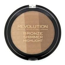 Bronzer do twarzy - Makeup Revolution Ultra Bronze, Shimmer and Highlight — фото N1