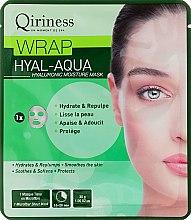 Hialuronowa maska nawilżająca na tkaninie - Qiriness Wrap Hyal-Aqua Hyaluronic Moisture Microfiber Mask — фото N1