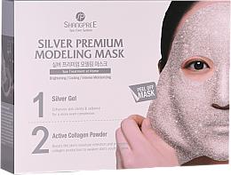 Kup PRZECENA! Oczyszczająca maska do twarzy zwężająca pory - Shangpree Silver Premium Modeling Mask (gel/50g + powder/4,5g) *