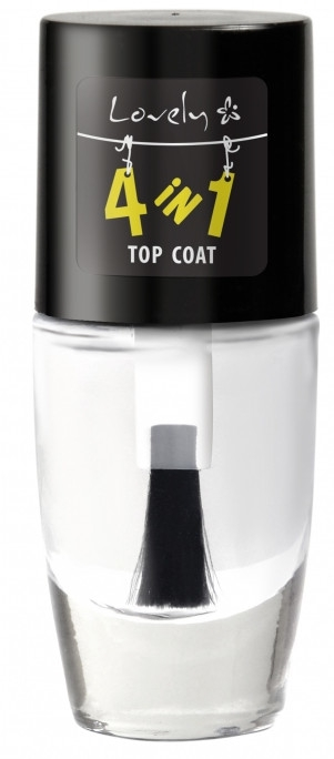 Wzmacniający top coat do paznokci - Lovely 4-in-1 Nail Top Coat