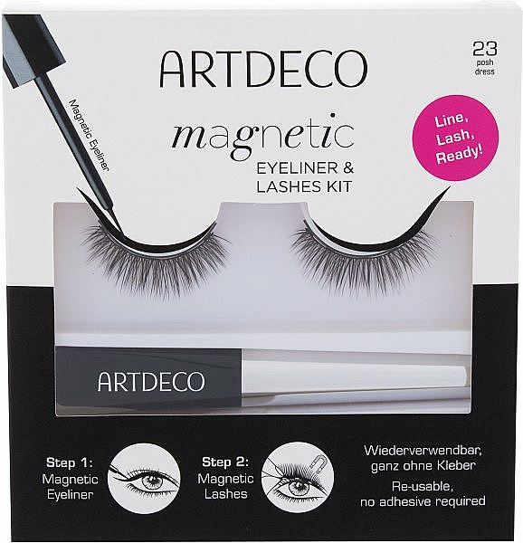 Zestaw - Artdeco Magnetic Eyeliner & Lashes Kit 23 Posh Dress (eyeliner/5ml + lashes) — фото N1