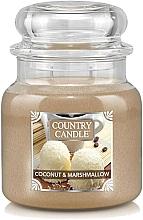 Kup Świeca zapachowa w słoiku - Country Candle Coconut & Marshmallow