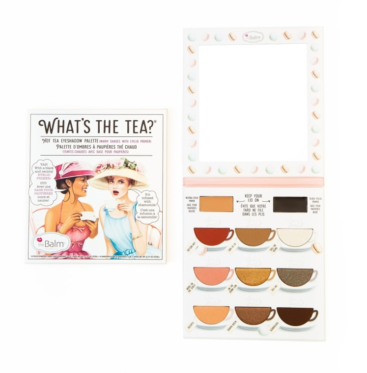 Paletka cieni do powiek z bazami - theBalm What's The Tea Hot Tea Eyeshadows Palette — фото N1