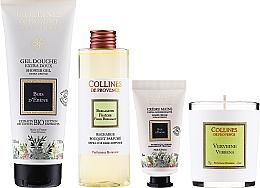 Kup Zestaw - Collines De Provence Gift Box (shr/gel/200ml + h/cr/30ml + candle/75g + aroma/diffuser/200ml)