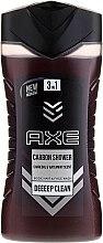 Kup Pielęgnujący szampon i żel 3 w 1 do mycia ciała i twarzy dla mężczyzn - Axe Carbon Shower Gel For Hair, Face & Body 3 In 1