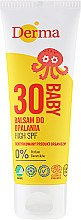 Kup Balsam do opalania dla dzieci SPF 30 - Derma Eco Baby Sun Screen High