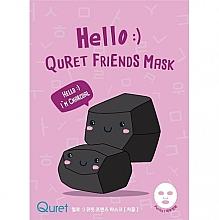 Kup Maska do twarzy na bazie węgla drzewnego - Quret Hello Friends Mask Charcoal