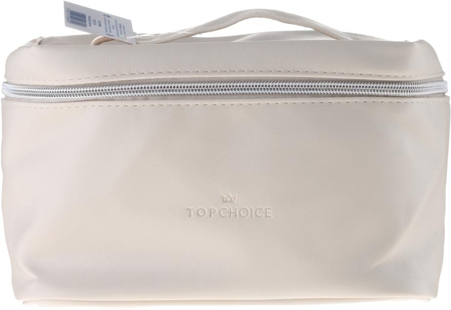 Kosmetyczka Leather, 96990, 24x14x13.5 cm, beżowa - Top Choice — фото N1