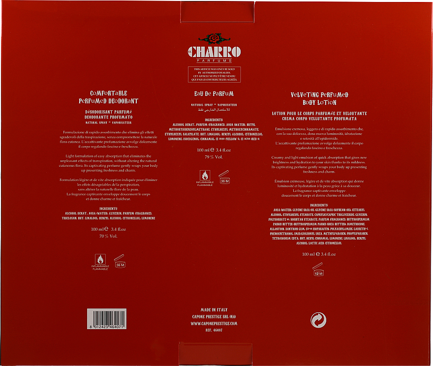 PRZECENA! El Charro Red - Zestaw (edp 100 ml + b/cr 100 ml + deo 100 ml) * — фото N6