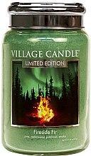 Kup Świeca zapachowa w słoiku - Village Candle Fireside Fir Glass Jar