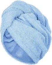 Kup Błękitny ręcznik-turban do włosów (68 x 26 cm) - Makeup