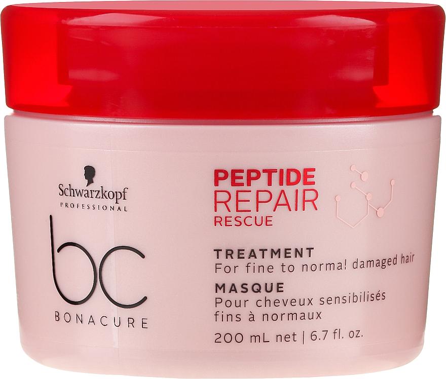 Rewitalizująca maska do cienkich i normalnych włosów zniszczonych - Schwarzkopf Professional BC Bonacure Peptide Repair Rescue Treatment Mask