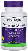 Kup Tłuszcze Omega, 2400 mg o smaku cytrynowym - Natrol Omega Extreme Heart Health