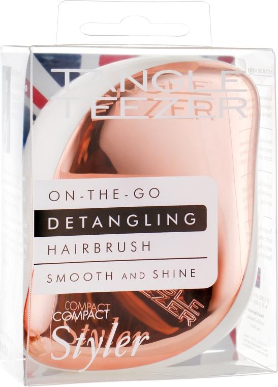 Kompaktowa szczotka do włosów - Tangle Teezer Compact Styler Rose Gold Cream — фото N5