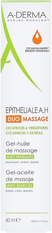 Żelowy olejek do masażu przeciw bliznom i rozstępom - A-Derma Epitheliale AH Massage — фото N2