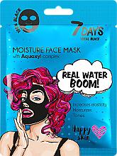 Kup Maseczka do twarzy - 7 Days Total Black Moisture Real Water Boom