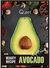 Kup Liftingująca maska do twarzy w płachcie - Quret Beauty Recipe Mask Avocado Lifting