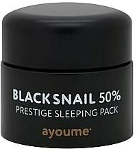 Kup Przeciwstarzeniowa maska na noc bez spłukiwania z mucyną czarnego ślimaka - Ayoume Black Snail Prestige Sleeping Pack