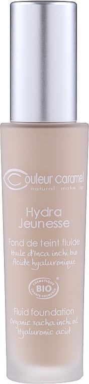 Naturalny podkład do skóry dojrzałej - Couleur Caramel Fond de Teint Fluide Hydra Jeunesse — фото N3