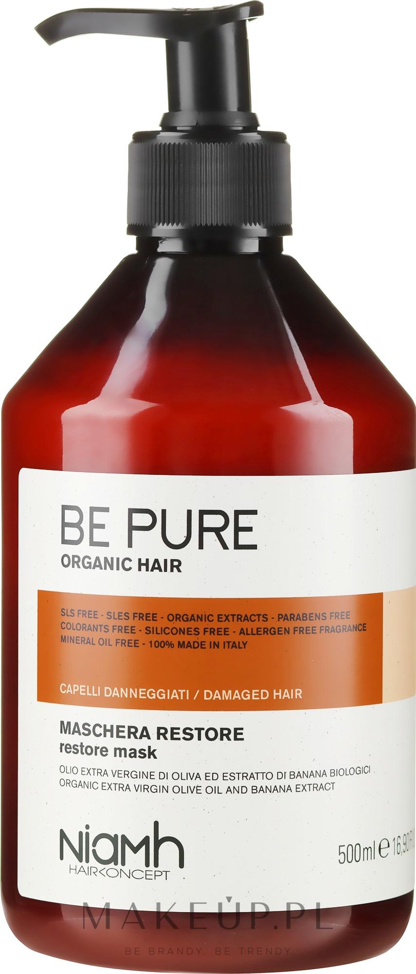 Regenerująca maska do włosów zniszczonych - Niamh Hairconcept Be Pure Restore Mask — фото 500 ml