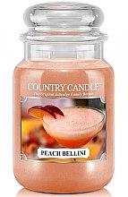 Kup Świeca zapachowa w słoiku - Country Candle Peach Bellini