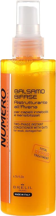 Dwufazowy balsam z wyciągiem z owsa - Brelil Numero Instant Two-phase Oatmeal Hair Conditioner
