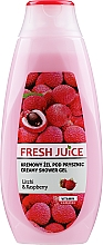 Kup Kremowy żel pod prysznic Liczi i malina - Fresh Juice Creamy Shower Gel Litchi & Raspberry