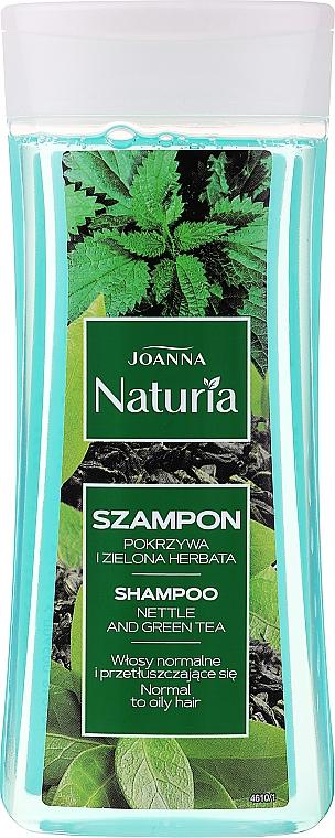 Szampon do włosów przetłuszczających się i normalnych Pokrzywa i zielona herbata - Joanna Naturia