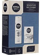 Kup Zestaw do golenia dla mężczyzn - Nivea Men Sensitive Recovery Shave Kit (sh/foam 200 ml + ash/balm 100 ml)