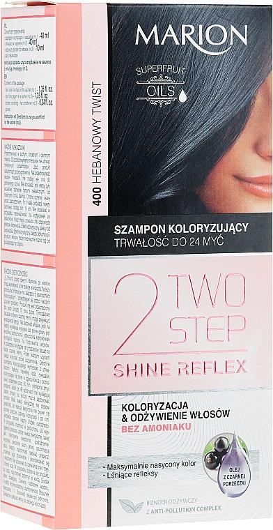 Szampon koloryzujący do włosów bez amoniaku - Marion Two Step Shine Reflex