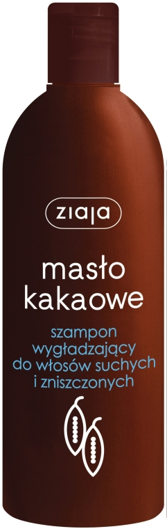 Wygładzający szampon do włosów suchych i zniszczonych - Ziaja Masło kakaowe