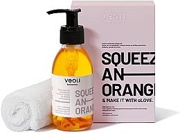Kup Zestaw do demakijażu i masażu twarzy - Veoli Botanica Squeeze An Orange (oil 132,7 g + towel)